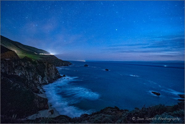 Starry Night Along Big Sur Coast