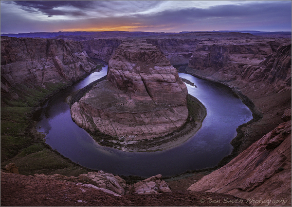 Evening Light at Horseshoe Bend