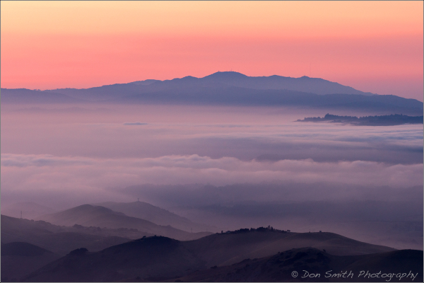 Santa Cruz Mountains and Fog