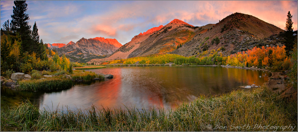 North Lake Alpenglow, Eastern Sierra