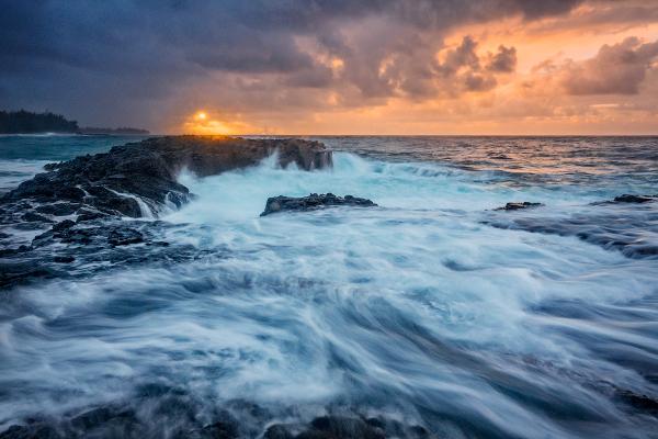 Wave Surge, Lumahai Beach, Kauai