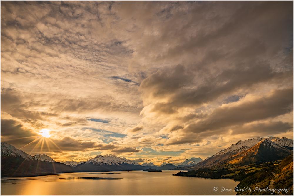 Late Afternoon, Lake Wakatipu, Near Glenorchy, New