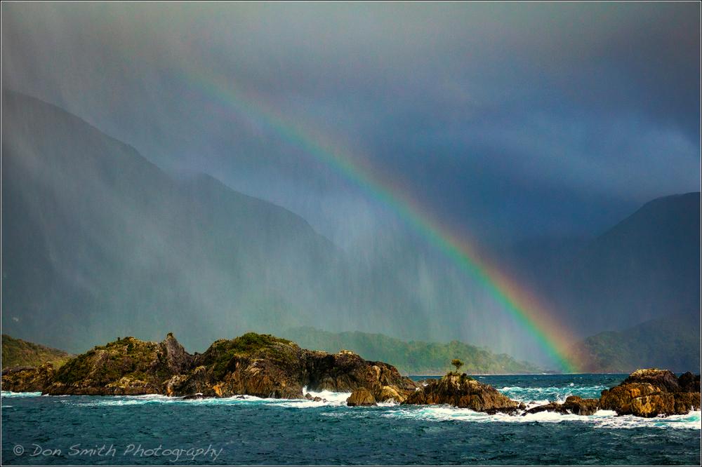 Rainbow Over Tasman Sea