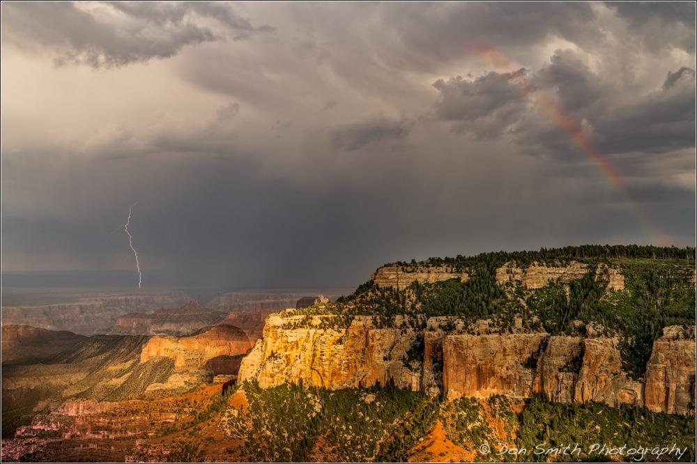 Lightning and Rainbow, Grand Canyon National Park