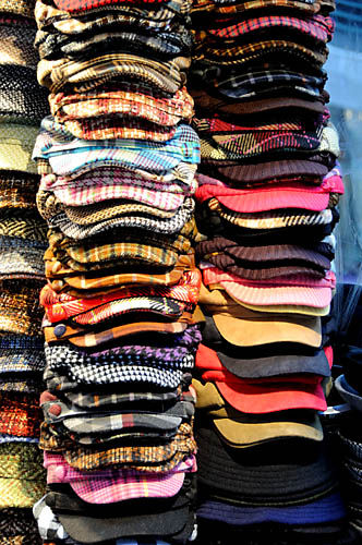 New York, hats, colors, rainbow,