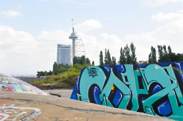 THE TOWER HOTEL WITH GRAFITTI