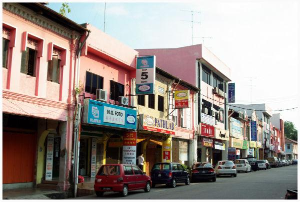 street in Muar, Malaysia