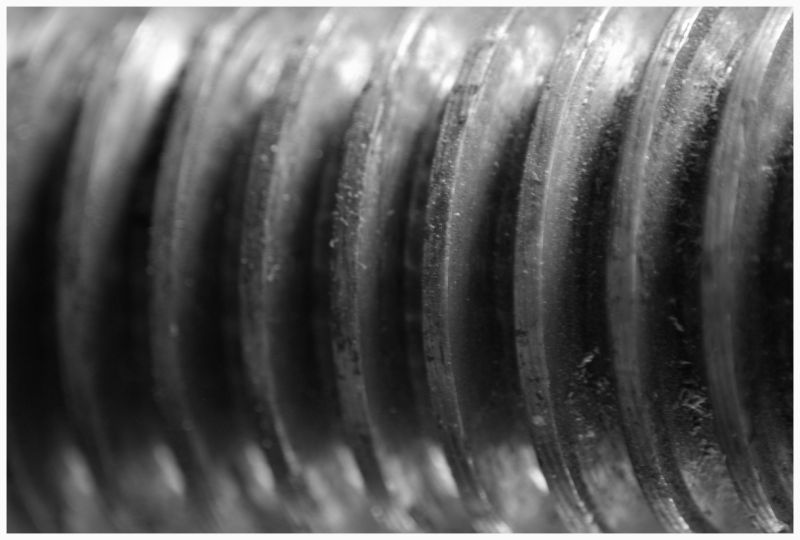 close-up image of the screw