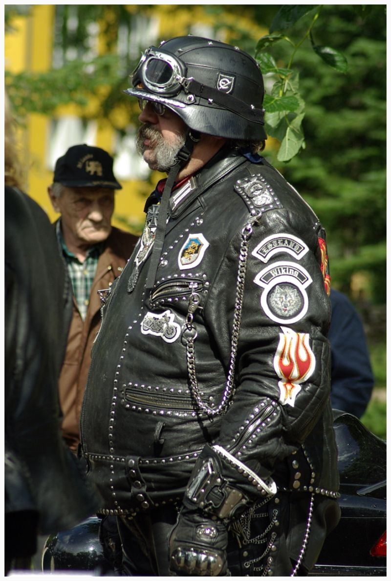 Biker from the biker's club Alempois