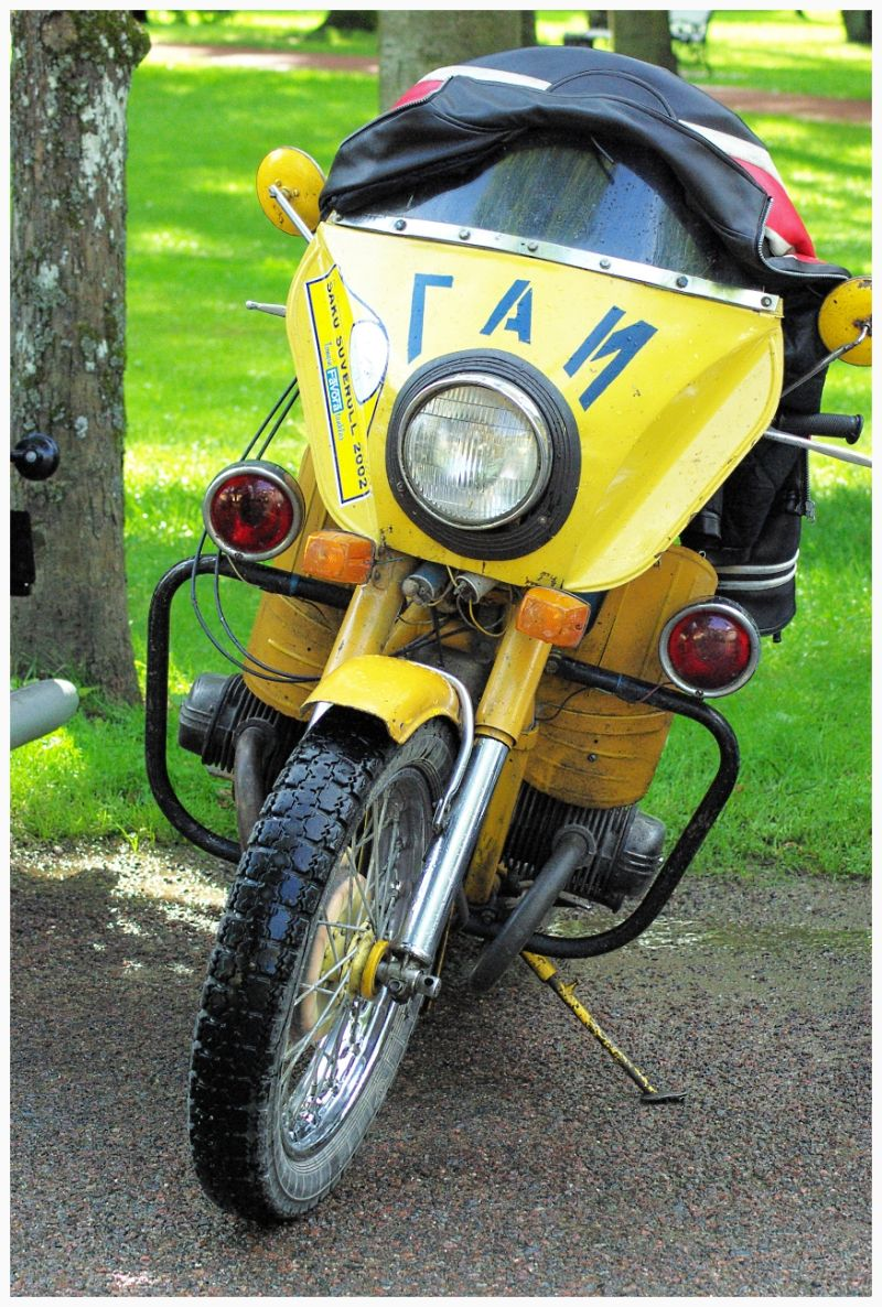 old yellow motorcycle