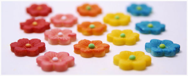 small marzipan flowers