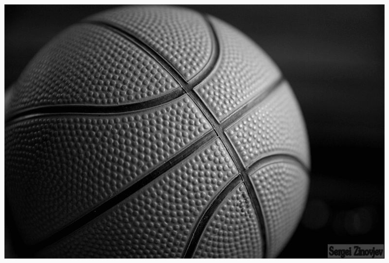 basketball ball in black & white