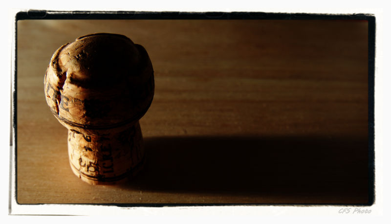 close--up of the wine cork