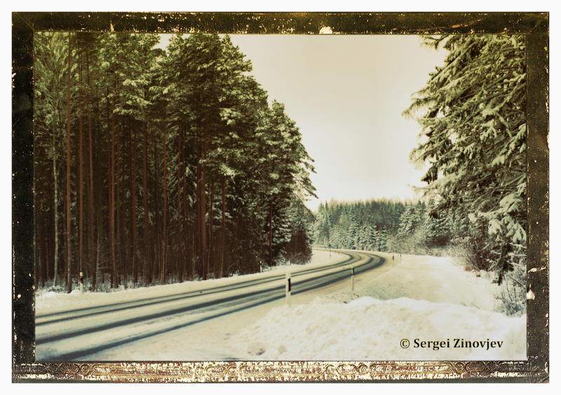 empty winter road