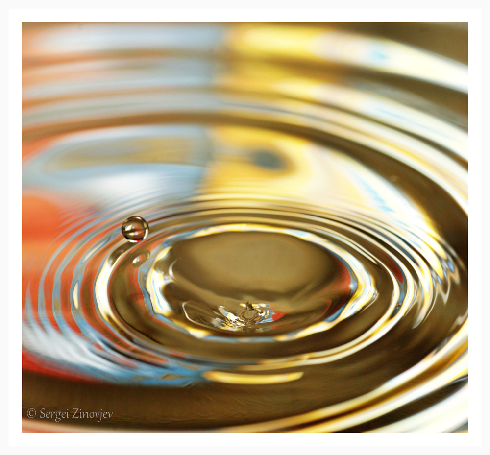 macro shot of drop of water