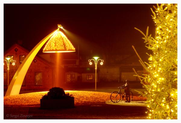 Christmas lights in Rakvere, Estonia