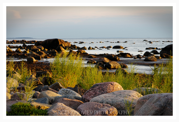 Baltic Sea shore in Hiiumaa, Estonia