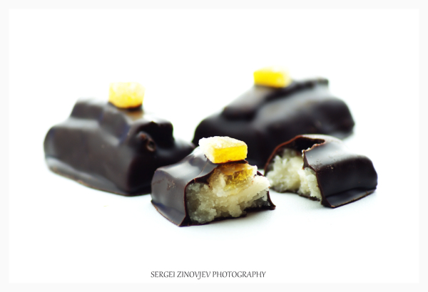 marzipan and orange with dark chocolate
