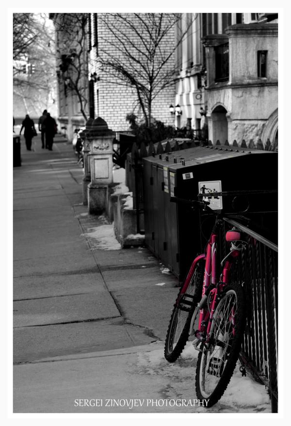 bicycle on New York street