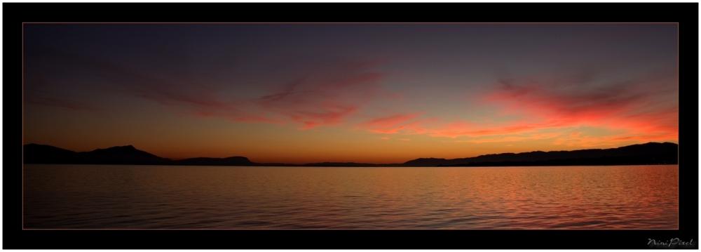 Sunset on Leman Lake