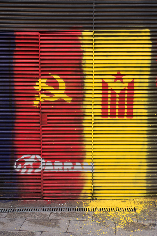 Colourful political graffiti