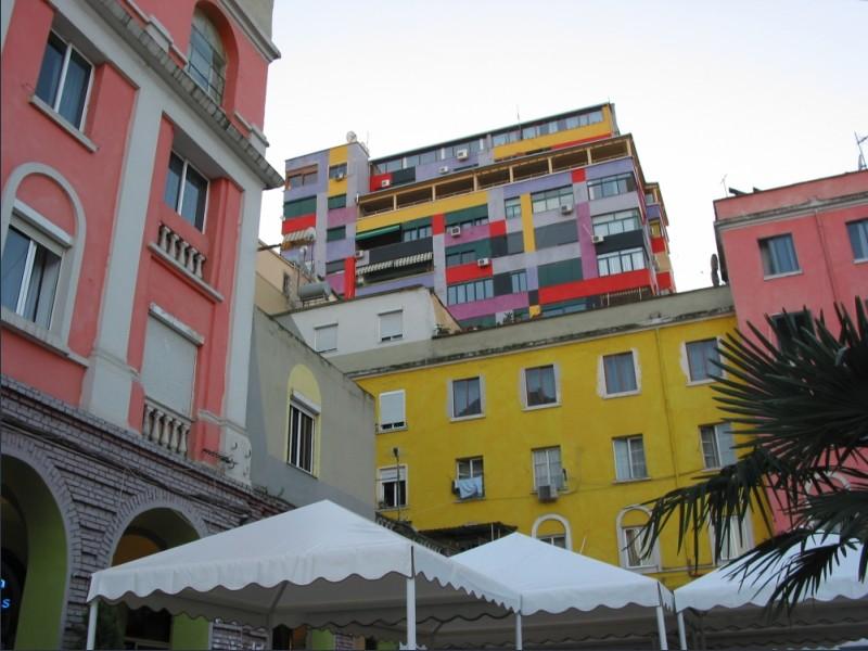 Tirana's bright walls