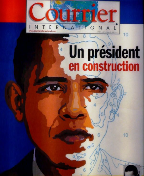 Jour J la une de Courrier International