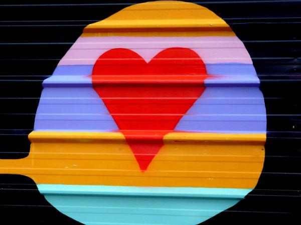 Un coeur sur la palissade
