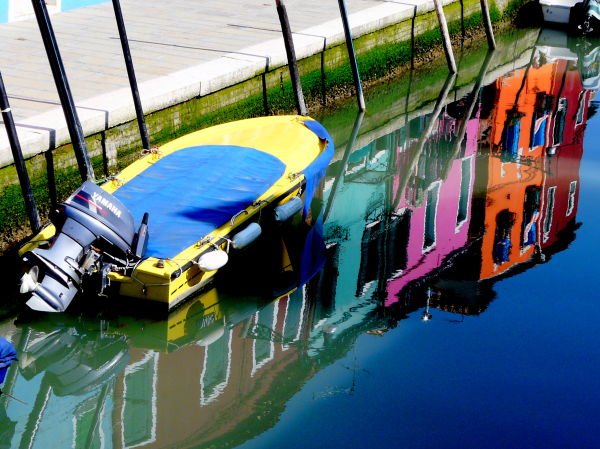 Reflets canaux Burano