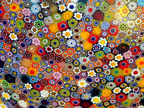 Tableau de couleurs en verre de Murano