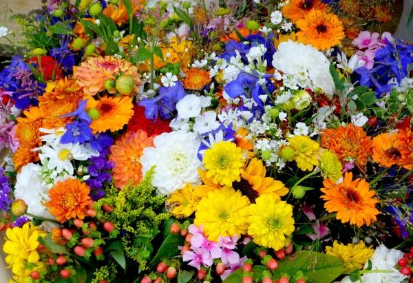 Bouquet champêtre sur le marché de Munich