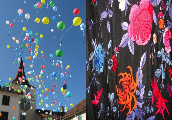 colorful, colors, fabric, balloons, chinese shawl