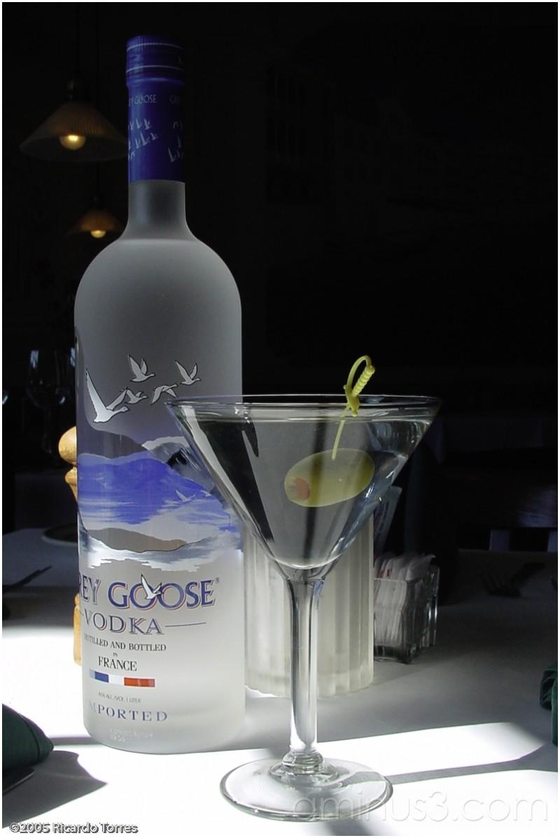 grey goose dirty martini calories