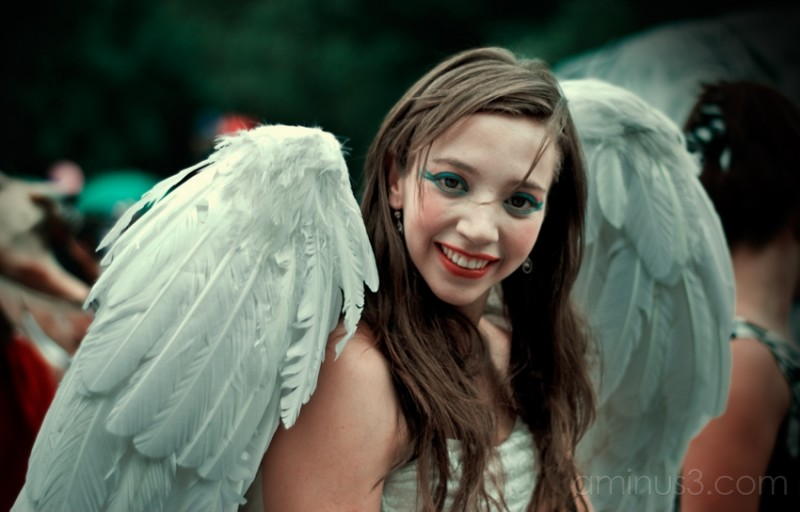 An angel at the Children's Day Parade.