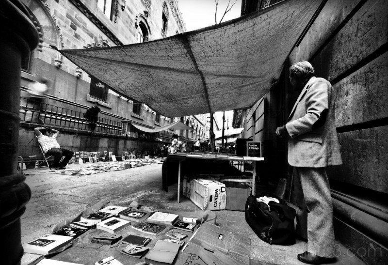 Book street vendor, Mexico City.