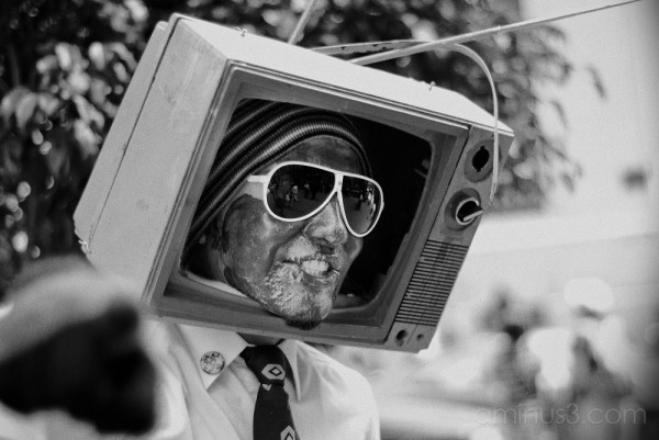 T.V. Man - Street Performer, Mexico City