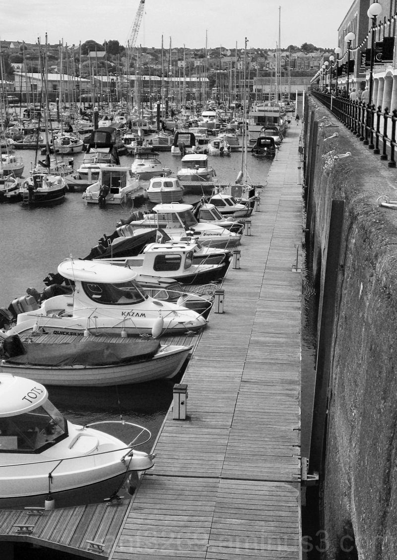 Black and White boats #3