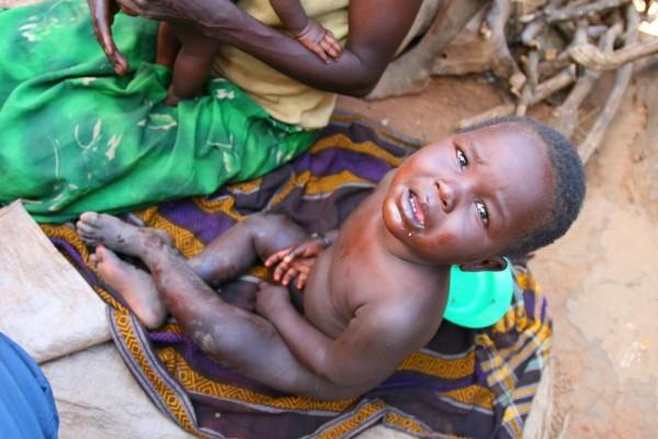 Ugandan child in camp