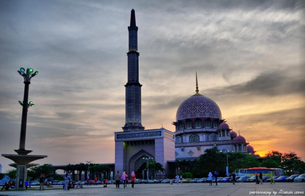 A mosque at Putrajaya