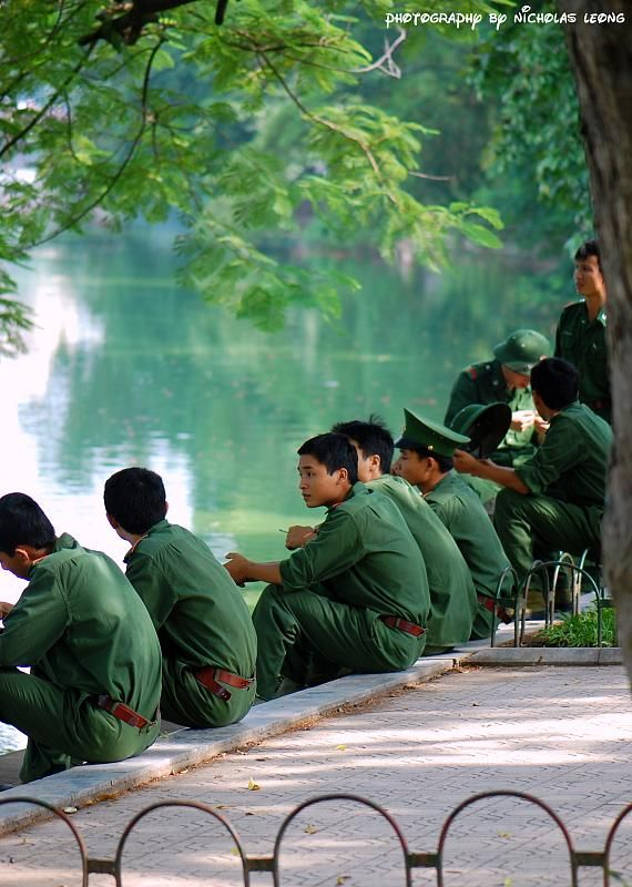 National service trainees of Vietnam