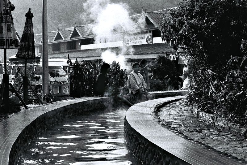 A hot spring