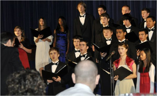 GSA Choir - Stephen singing at fund raiser.