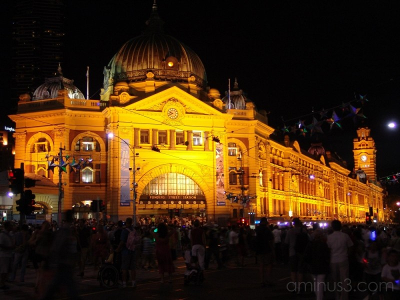 A view of Flinders Street Station