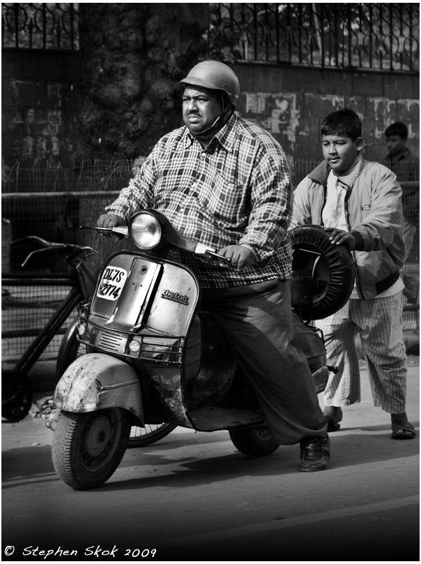 Delhi India scooter street