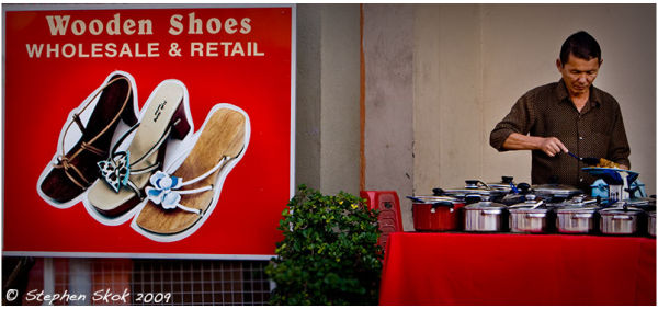Malacca Malaysia tasty food red shoes