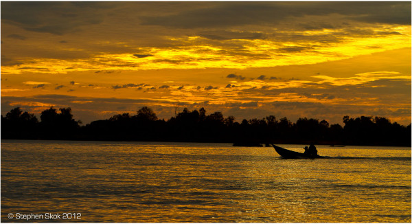 Laos,Si Phan Don, Mekong, river, boatman, street,