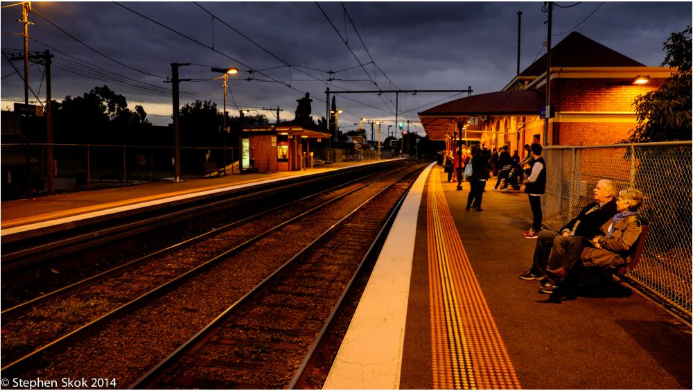 Australia, Melbourne, Train