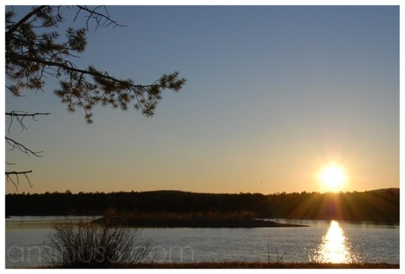 inari lapland finland lake midnightsun