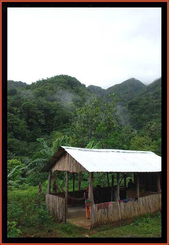 a Carib carbet in Dominica