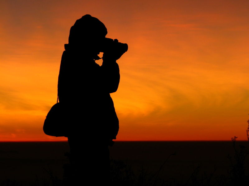 Silhouette of a Photographer!